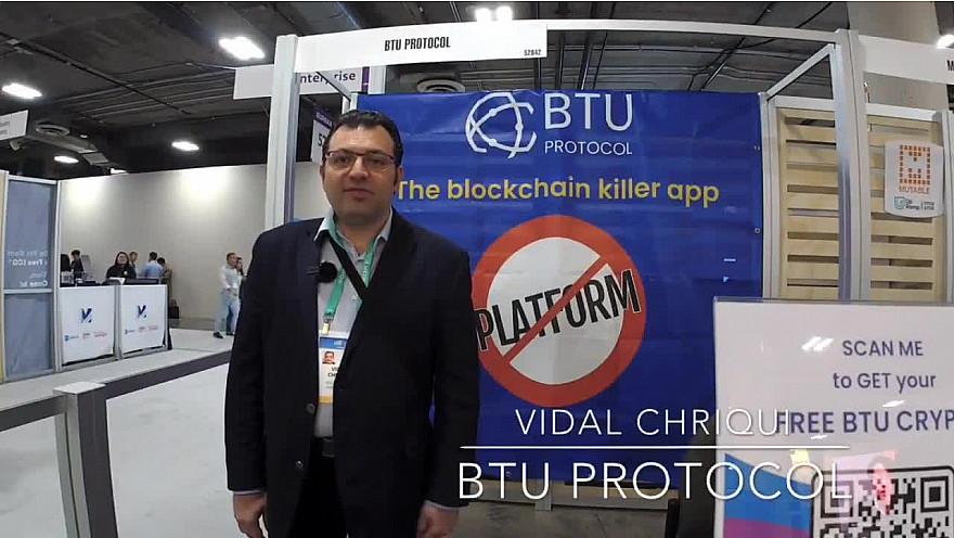 CES 2020 Las Vegas :  ITW Vdal de la Blockchain BtuProtocol #CES2020 de #LasVegas @jblefevre60 @Ym78200 @pierrepinna @ipfconline1 @labordeolivier @tewoz @PironTristan @MichaGUERIN @BtuProtocol @vidal007