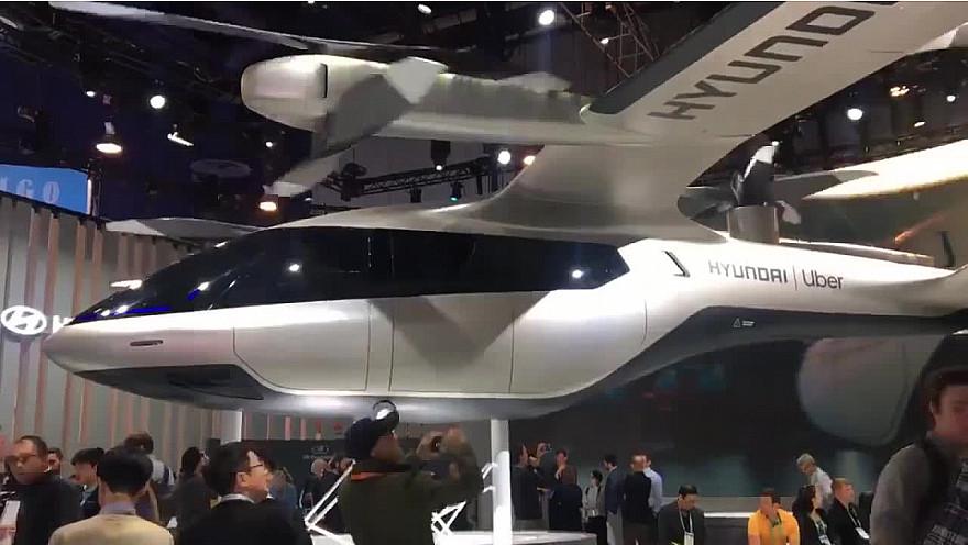 CES 2020 Las Vegas :  le Flying-Taxi de Uber-Hyundai coup de coeur d'Olivier Laborde #CES2020 de #LasVegas @jblefevre60 @Ym78200 @pierrepinna @ipfconline1 @labordeolivier @tewoz @PironTristan @MichaGUERIN @Hyundai_Global @Uber