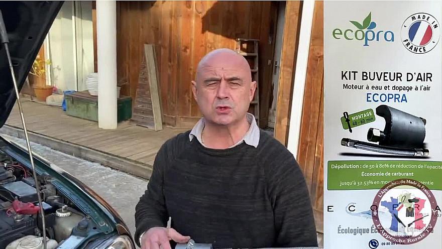 Approche TV  'made In France :  présentation du Kit Buveur d'Air ECOPRA adaptable à toute les voitures