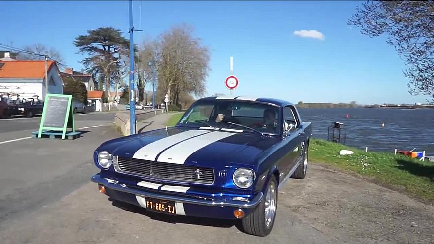 Nantes&VousTV Racing : LA BLEUE, une Mustang particulière entièrement reconstruite par LE MUSÉE