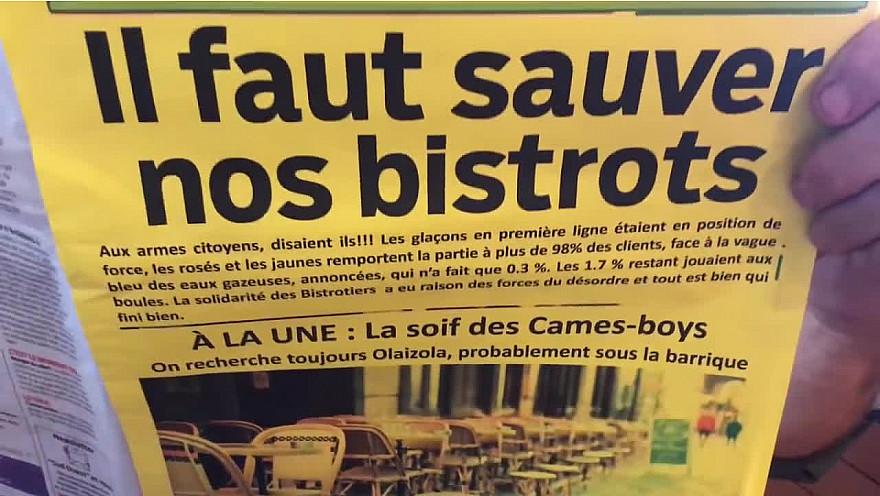 IL FAUT SAUVER NOS BISTROTS - vue sur TF1 27 octobre 2020 par David Olaizola
