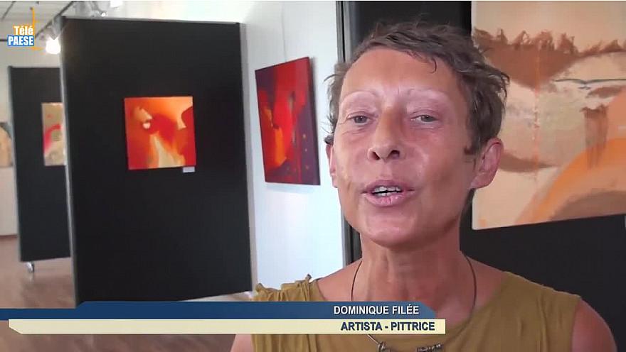 Télé Paese Corsica: Dominique Filée et ses œuvres abstraites et un univers sensitif au Spaziu de Lisula