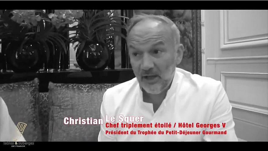 Le chef triplement étoilé du palace le Georges V  Christian Le Squer président du deuxième #TrophéeduPetitDjeunergourmand @TVdeschefs #Smartrezo