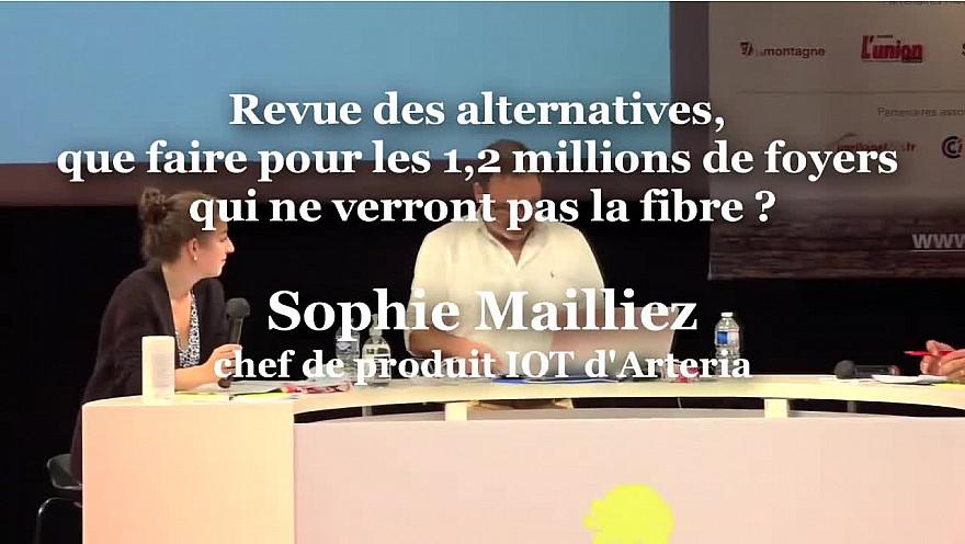 Sophie Mailliez, chef de produit IOT d'Arteria à Ruralitic 2020 @ArteriaTelecom #IoT @MTN_cote #Ruralitic2020 @cantalauvergne