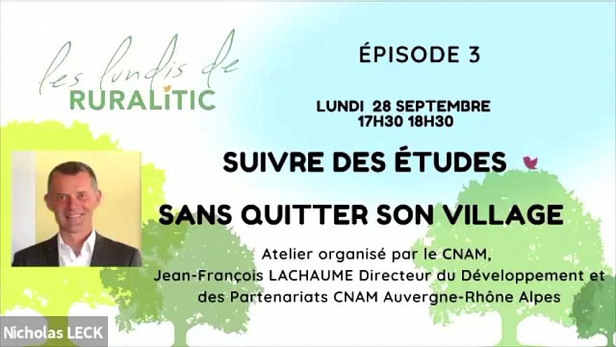 Les Lundis de RURALITIC :  séance sur la Formation à Distance animée par Jean-François