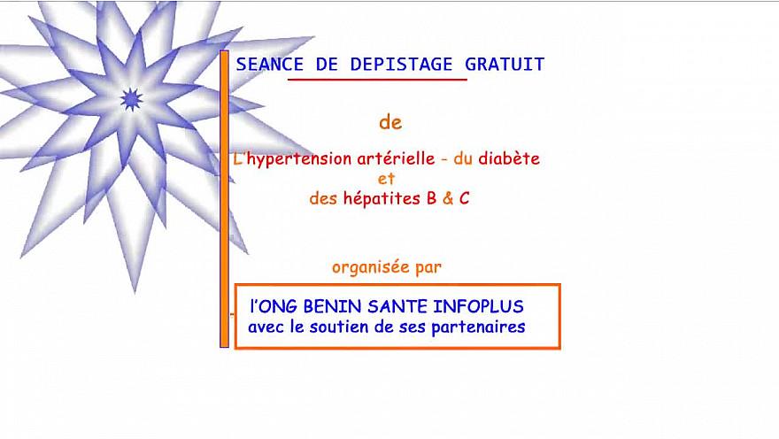 BSIP 27 juillet: Dépistage gratuit de l'Hypertension Artérielle, du Diabète et des Hépatites B & C organisé par l'ONG Bénin Santé