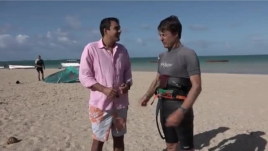 Nicolas Hulot, parrain du Rodrigues International Kitesurf Festival à l'Ile Maurice