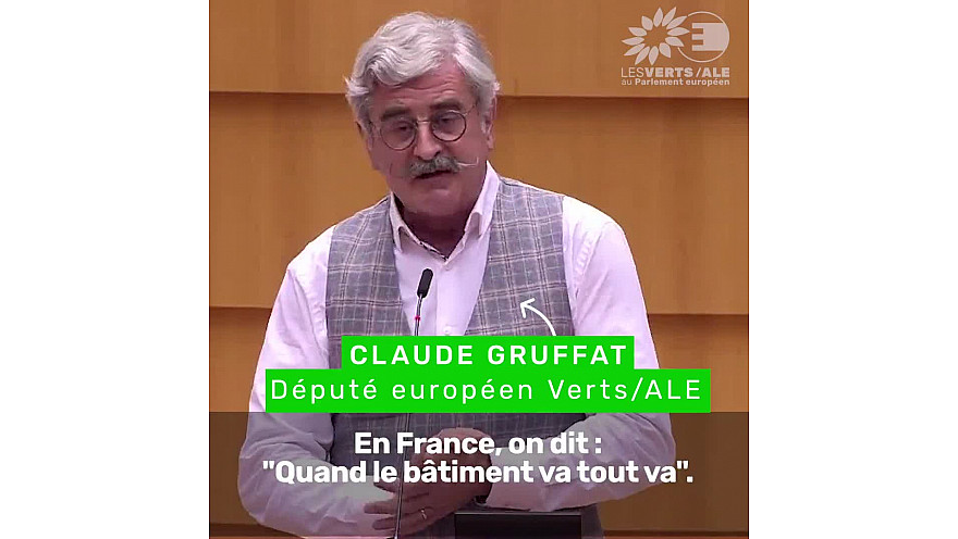 Faisons enfin de la construction une locomotive pour le social, le climat et l'environnement ! @gruffat_claude #EPlenary #PlenPE #GreenDeal #FranceRelance #InvestEU