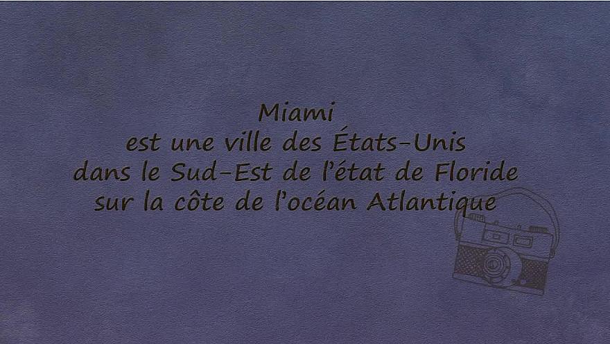 carte Postale Miami