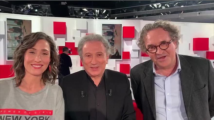Michel Drucker, Annelise Hesme et Grégoire Bonnet (série Nina)