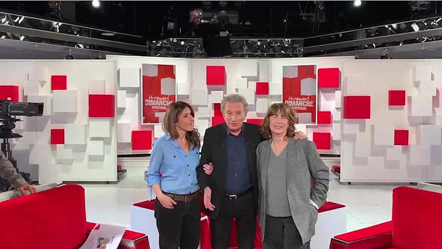 Michel Drucker, Jane Birkin, Nathalie Lévy