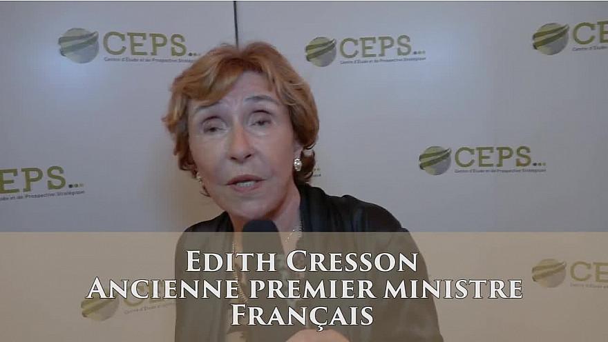 ÉDITH CRESSON SEULE ET UNIQUE FEMME PREMIER MINISTRE FRANÇAIS : au Gala du CEPS.