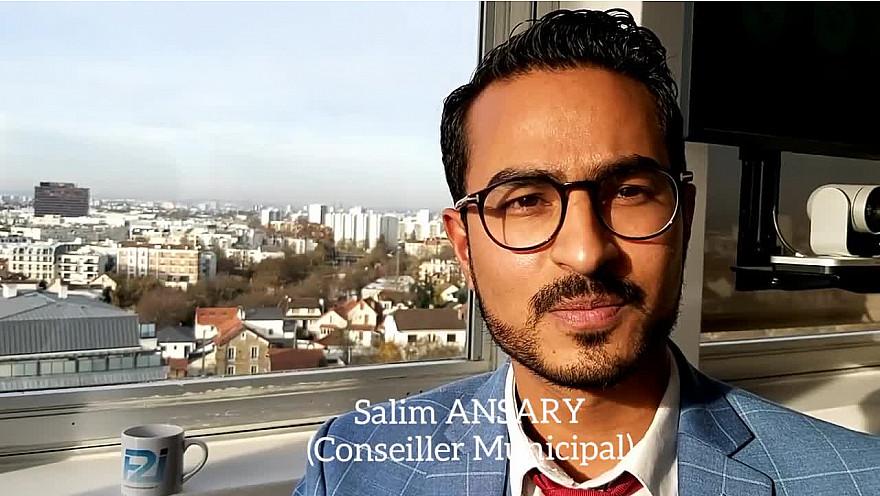 Un Elu, une minute : Salim ANSARY Conseiller Municipal de Rosny-sous-Bois