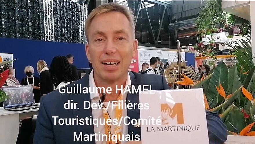 TV Locale Martinique : '1 MINUTE,1 ILE' Guillaume HAMEL Directeur des filières touristiques du comité Martiniquais au salon IFTM Top Resa 2021 à Paris.